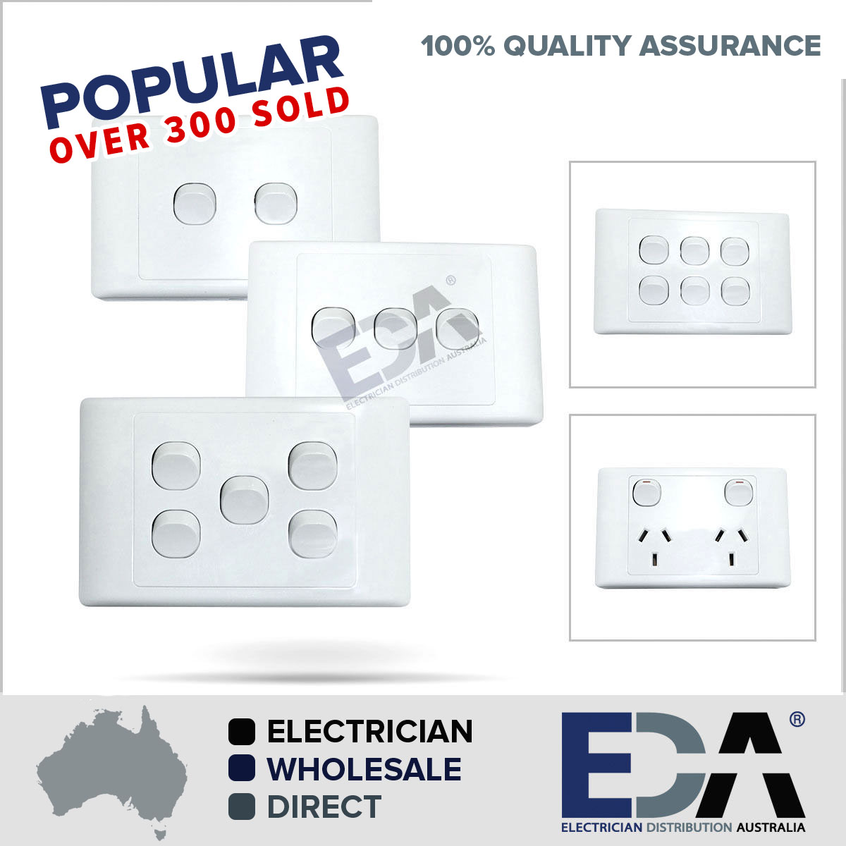 electrical socket switch power point outlet plate gang gpo