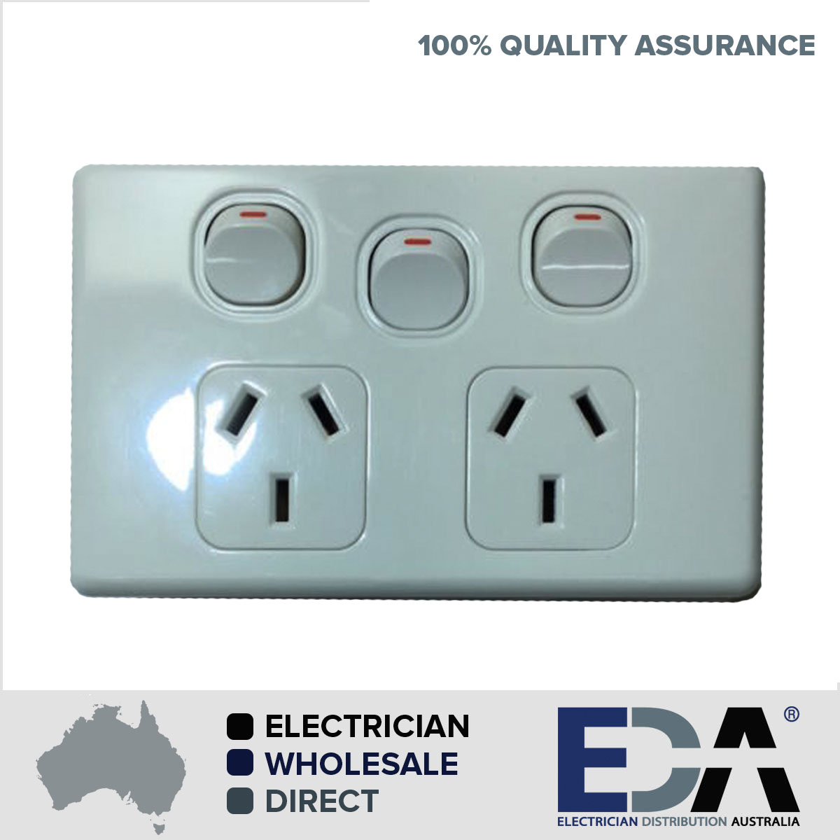 ELECTRICAL SOCKET SWITCH POWER POINT OUTLET PLATE GANG 240V GPO ...