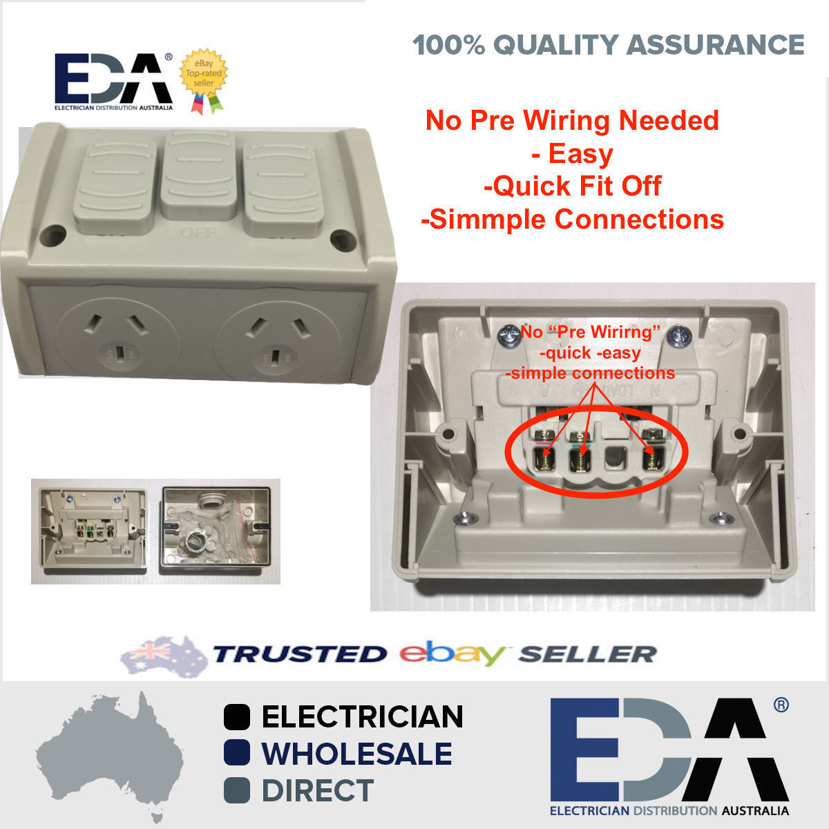 Weatherproof dgpo extra switch no wiring double power point quick extra switch no wiring double power point quick fit off easy asfbconference2016 Image collections