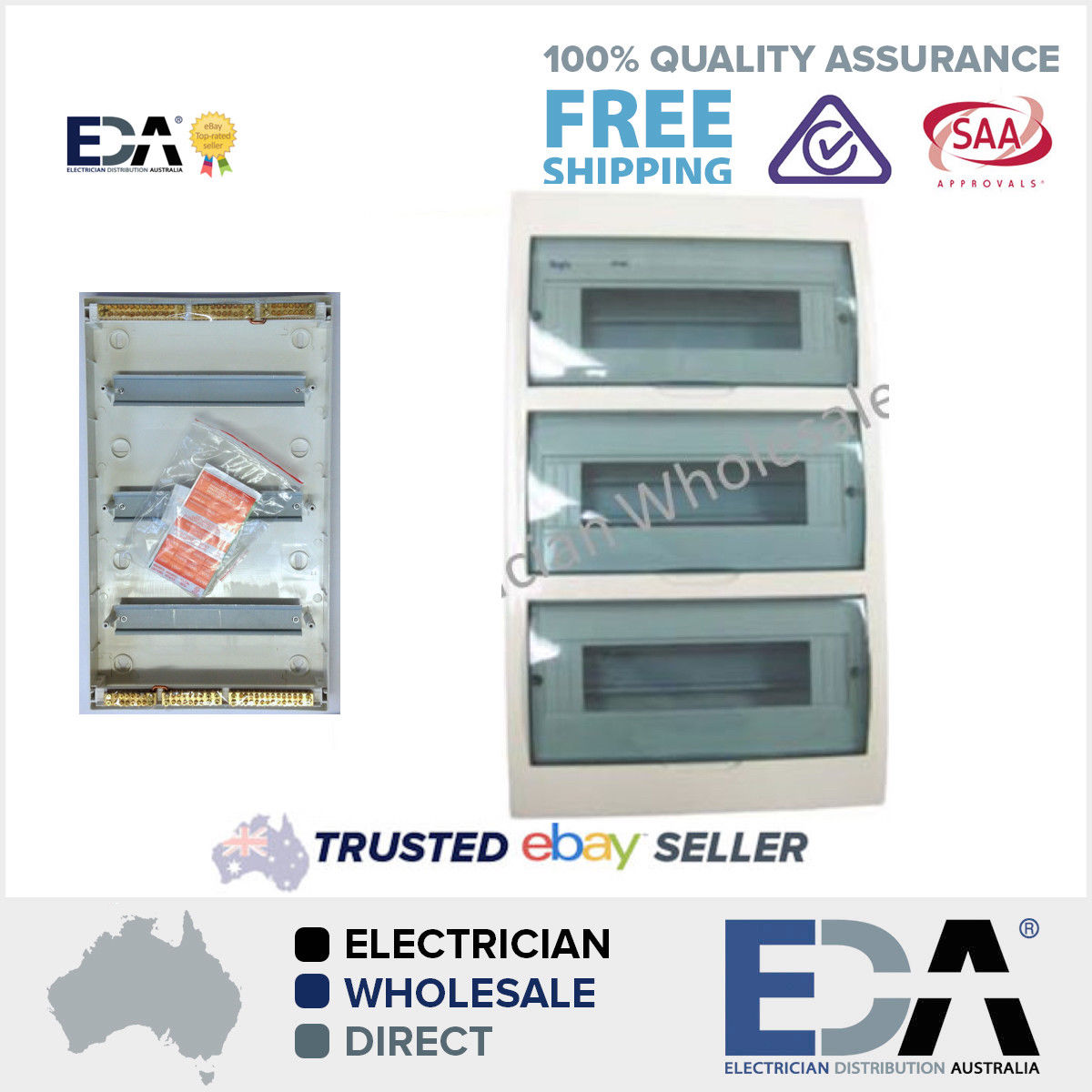 Switchboard 42 Way Pole FLUSH or Recessed Mount Distribution Board Fuse Box 263242805198 switchboard 42 way pole surface mount distribution board fuse box fuse box australia at gsmportal.co