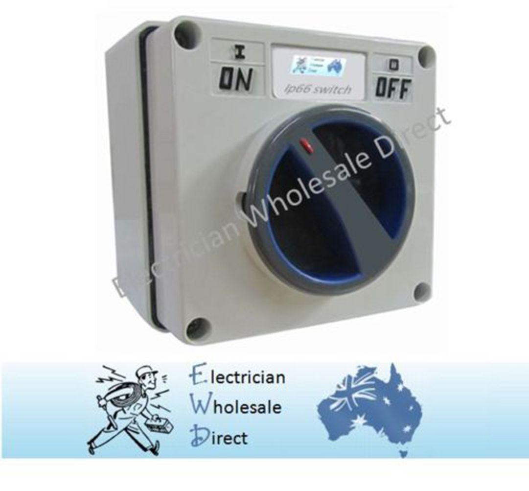 Single Phase Switches : Amp single phase switch isolator ip weatherproof